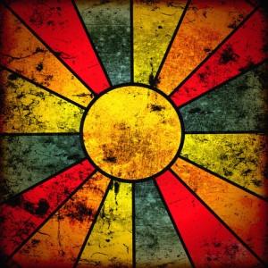 abstract sun's rays